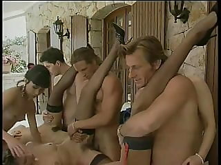 cumshot,group sex,vintage