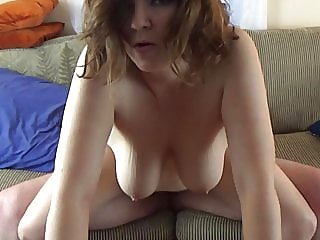dirty talking big titty milf with nice bush fucked on couch,,